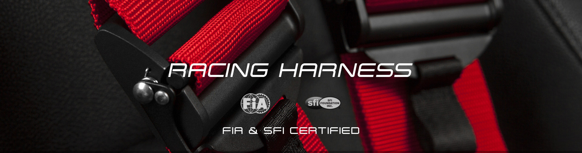 FIA & SFI Racing Harness Banner